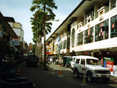 Stadtmitte von Denpasar mit Geschäften