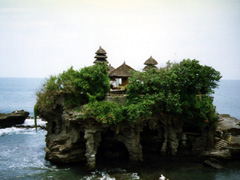 Ansicht des Tempels Tanah Lot