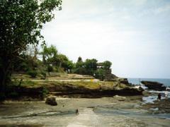 Tanah Lot Tempel bei Ebbe