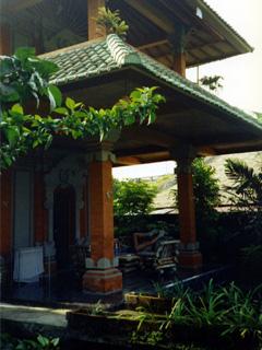 Terrasse des Hotels Warsis House in Ubud auf Bali